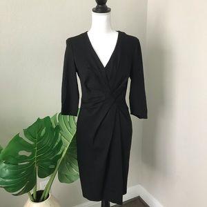 Escada classic black midi dress